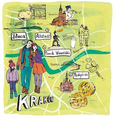 Stadtskizze von Krakau