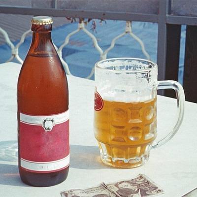 Bier mit Glas