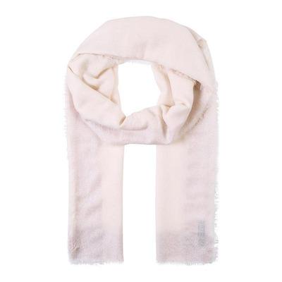 Ein beige-farbener Schal