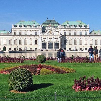 Schloss Belvedere im Sommer