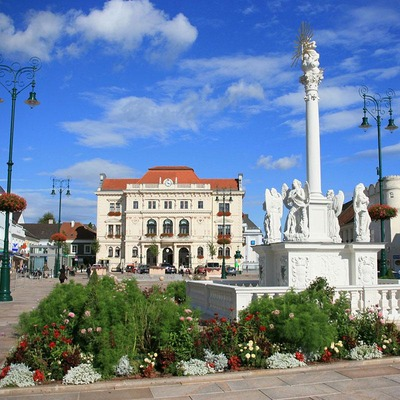 Das Stadtzentrum von Tulln