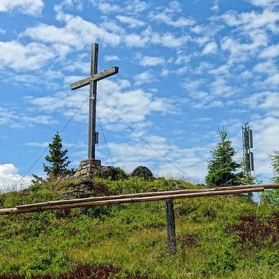 Gipfelkreuz Steinplan Schutzhaus