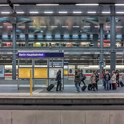 Am Bahnhof in Berlin