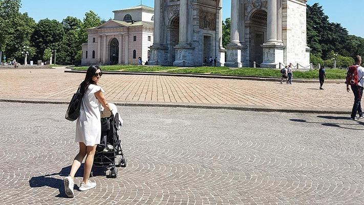 Am Domplatz in Mailand