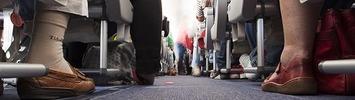 Fußraum im Flugzeug