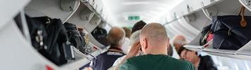 Gepäckraum im Flugzeug