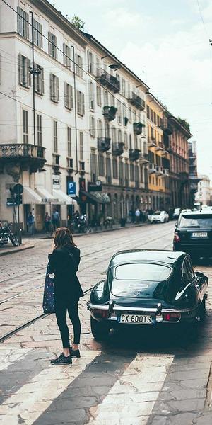 Einkaufsstraße in Mailand