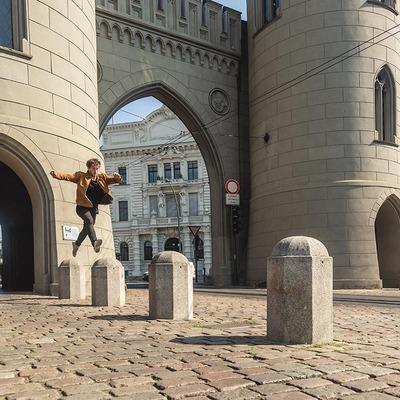 Alex Schauer in der Stadt