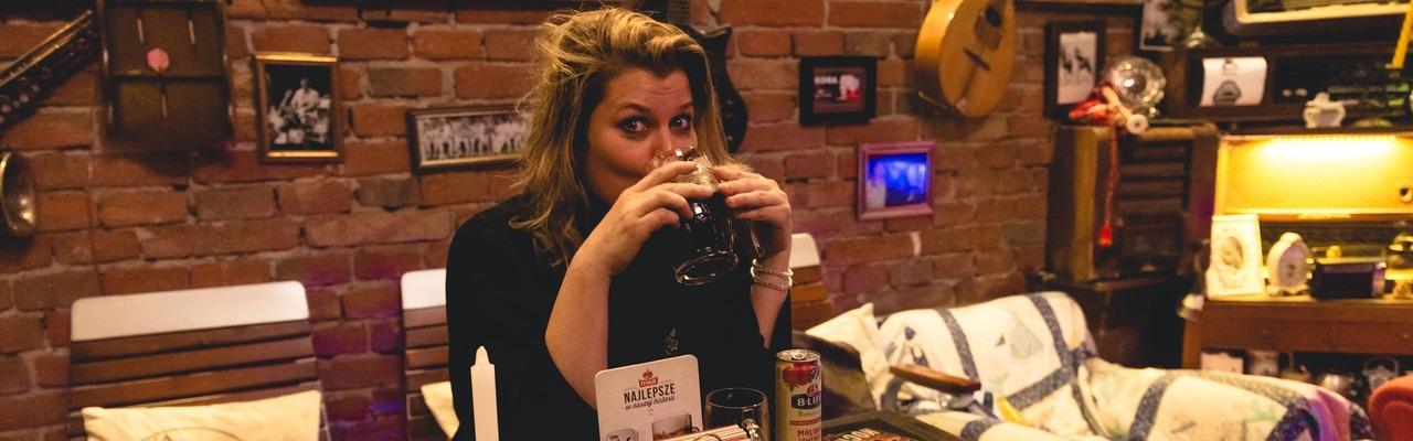 Janina im Restaurant