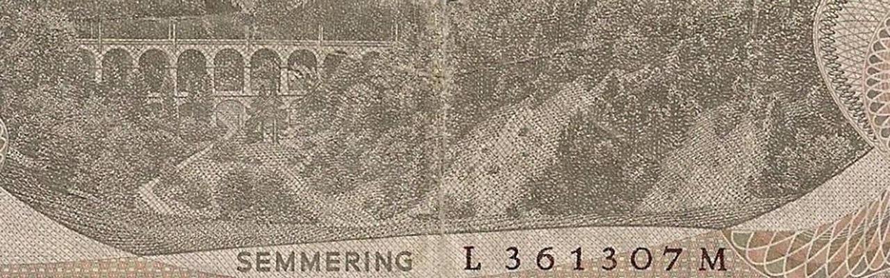 Der Semmering - abgebildet auf dem 20-Schilling Schein