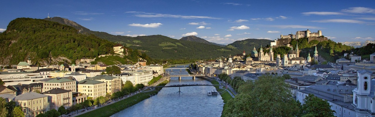 Ein Panoramafoto von Salzburg