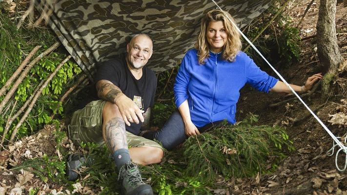 Janina und Franz Müllner beim Survivaltraining