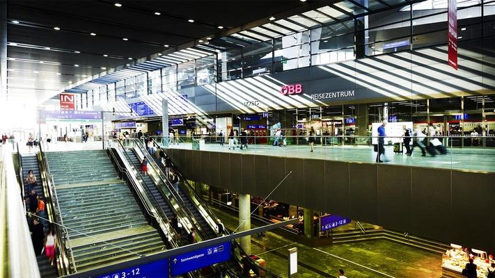 Der Wiener Hauptbahnhof von innen