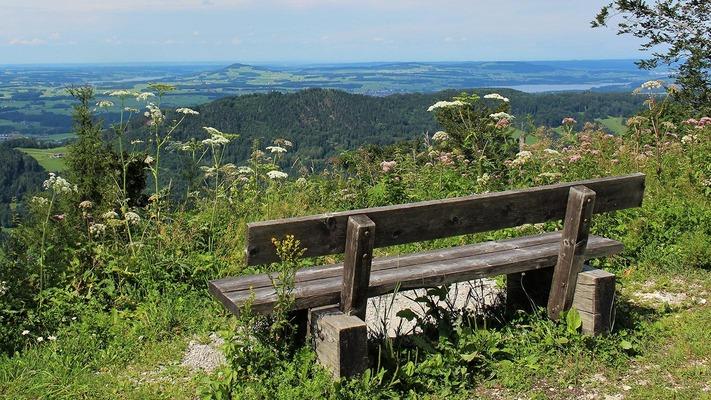 Aussicht am Wohlfühlwanderweg Gaisberg