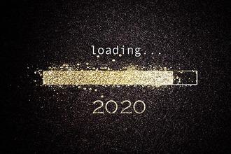 Ladebalken für das neue Jahr 2020