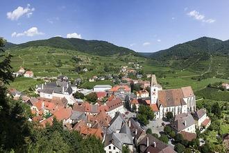 Panorama von Spitz an der Donau