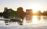 Sonnenuntergang Tiefer See Schiffbauergasse