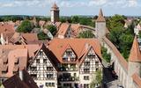Blick auf die Altstadt, Rothenburg ob der Tauber