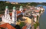 Passaus Altstadt und Burg Veste Oberhaus