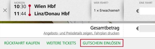 Info zur Einlösung von Gutscheinen im Ticketshop