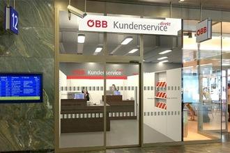 Kundenservice Direkt Schalter am Hauptbahnhof Wien