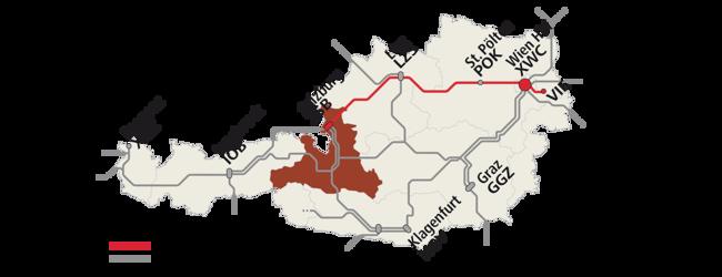 Rail and Fly Karte für Österreich
