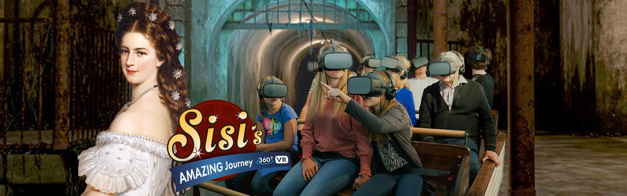 Sujet Sisi Journey - people sit in Halle with VR glasses