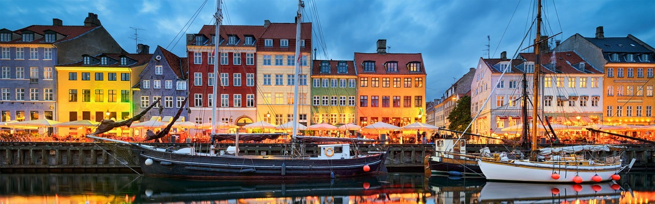 Colorful houses in Nyhavn, Copenhagen