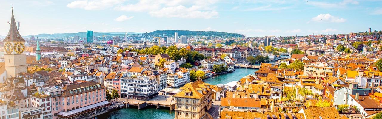 Panorama über Zürich in der Schweiz