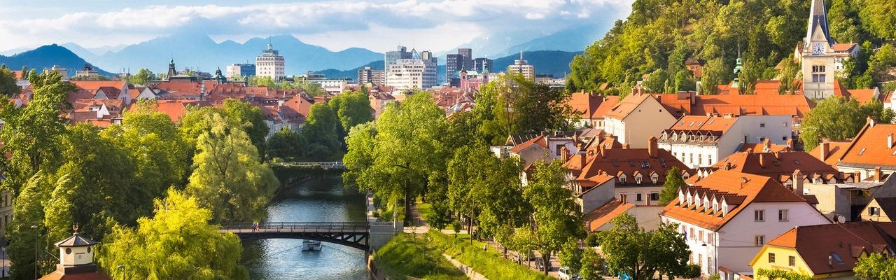 Stadtpanorama von Ljubljana
