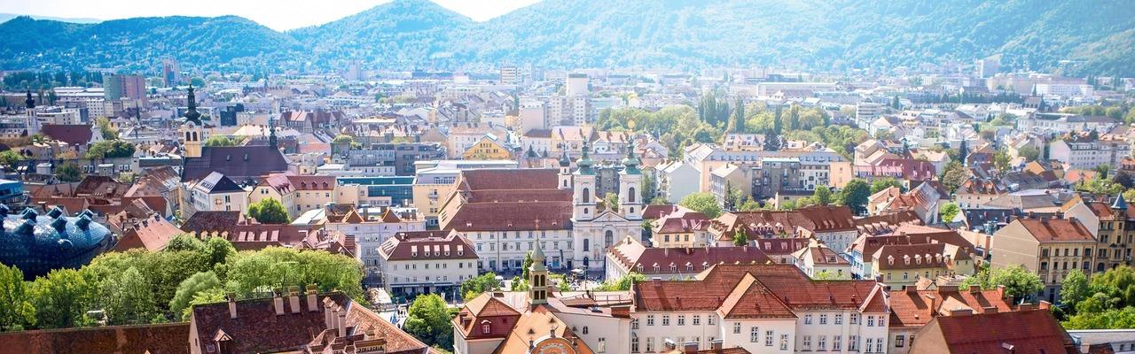City panorama of Graz