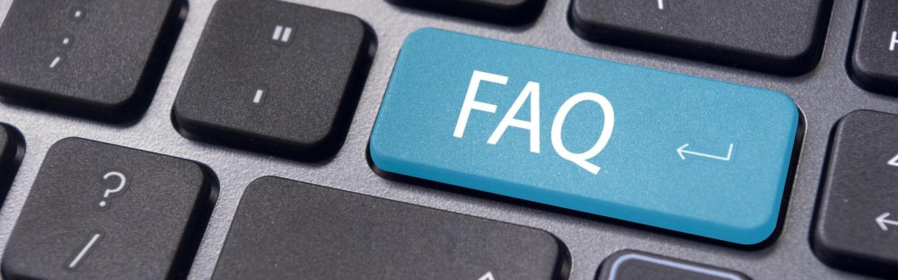 Tastatur mit FAQ-Taste