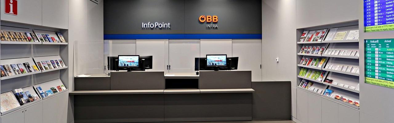 Infopoint Schalter in Graz