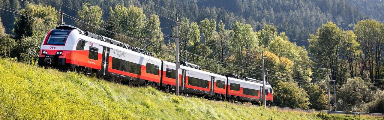 """Cityjet with """"S-Bahn Steiermark"""" branding"""