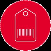 Icon mit Gepäck-Schild