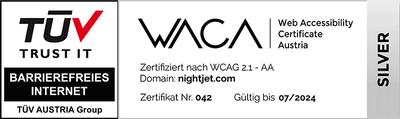 """WACA Zertifizierung """"Silber"""""""