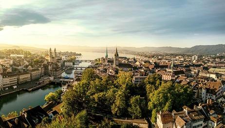 Panorama Blick in der Schweiz