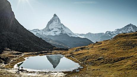 Der Riffelsee vor dem Matterhorn