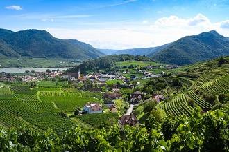 Panoramablick über die Wachauer Berge