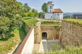 Der Museumsturm auf der Burg Veste Oberhaus