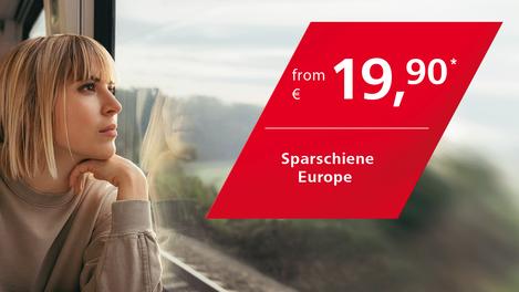 Sparschiene Europe from 29,90 Euro