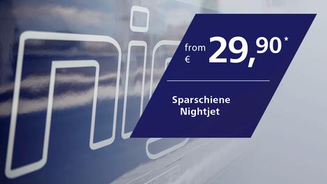 Sparschiene Nightjet from 29,90 Euro