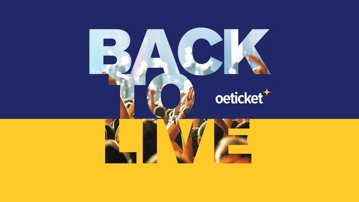 """Schriftzug """"Back to live"""" von Ö-Ticket"""