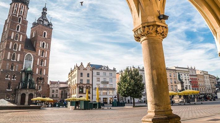 Stadtzentrum von Krakau