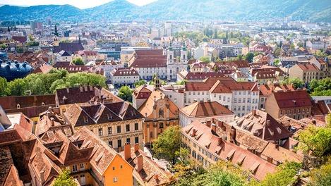 Stadtpanorama von Graz