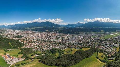 Panorama über Innsbruck