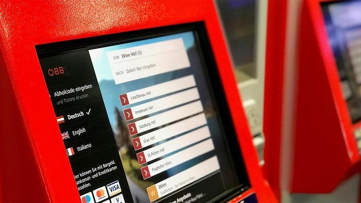 Ticket machine booking mask
